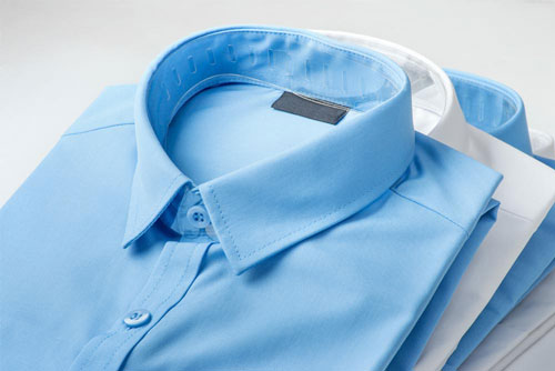 drycleaned collared shirts